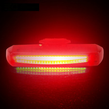 NEW Cycling LED USB Rechargeable Bike Bicycle Tail Warning Light Rear Safety