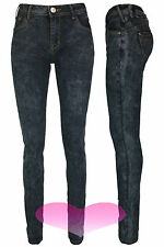 Ladies Jeans New Grey Acid Wash Slim Fit Skinny Denim Jeans Size uk8 10 12 14 16