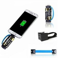 Emergency Portable Battery Powered Cell Phone Charger Ultra Mini AA Battery