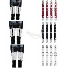 Garter Belts Shirt Stays Holders Socks Fasteners Suspenders with Locking Clamps