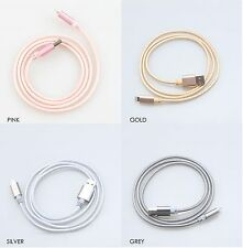 1M Metal Braid Lightning Charger Cable for Apple iPhone 5/6/7, iPad & iPod