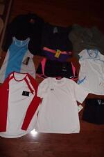 LOT 10 UNDER ARMOUR NIKE WOMENS SHIRTS SHORTS HOODIES INFRARED JACKET LARGE NWT