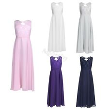 NEW Wedding Party Formal Flower Girls Dresses Baby Chiffon Lace Pageant Dresses
