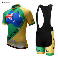MILOTO Cycling Clothing Breathable Bike Bicycle Jersey bib shorts 3D GEL padded
