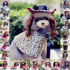 Cute Pet Dogs Christmas Vintage Lady Style Costumes Including Cloak Hat Wig Sets