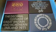 UK PROOF SET COVER ONLY FROM 1970 1972 1981 YOUR CHOICE OF YEAR NO COINS HUNT
