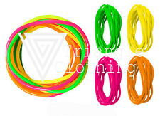 Neon Bright Coloured 90's Retro Gummy Rubber Waist Shag Bands Snappable Pink