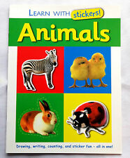 Animals Activity Book Learn With Stickers Pre School Kids Early Learning Childre