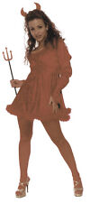 ADULTS WOMENS DEVIL RED HOT SEXY DEMON HALLOWEEN FANCY DRESS COSTUME - 3 SIZES