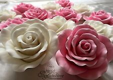 Handmade handcrafted icing sugar roses  a set of 6 roses cake decoration