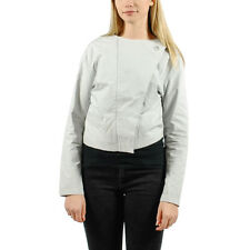 PUMA BY HUSSEIN CHALAYAN WOMENS SAIL CROPPED JACKET GRAY VIOLET 559748 08