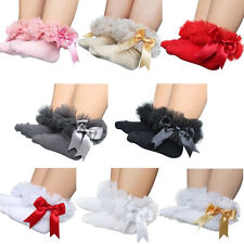 1Pair Infant Baby Lace Mesh Socks Anklets Cotton Soft Bowknot S/M/L New Stocking