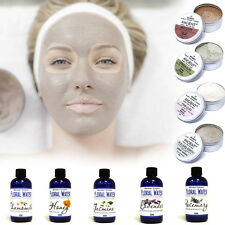 Clay Face Mask & Floral Water - for Blackheads, Acne, Detoxifying Skin