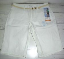 Riders by Lee Women's Mid-Rise Stretch Bermuda Shorts White