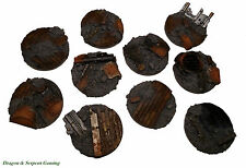 32mm Round Resin Scenic Infantry Bases Urban/Rubble Wargames Scenery Warhammer