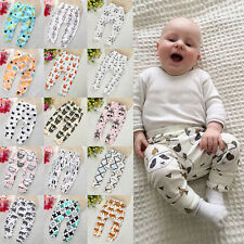 Toddler Baby Boy Girl Casual Harem Pants Long Trousers Leggings Nappy Bottoms