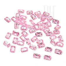 Pink Color Cubic Zirconia AAA Quality Calibrated Size Octagon Shape gemstones