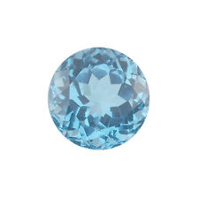 Natural Brazilian Swiss Blue Topaz AA Quality 1 mm Faceted Round Loose gemstone