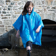 Splashmac Kids Rain Poncho Windproof & Waterproof FESTIVALS/CAMPING (8 COLOURS)