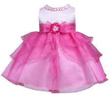 Baby-Girls Ruffle Tiered Fuchsia Pink Dress (3-24 Months)