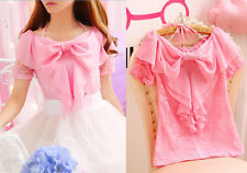 Japanese Sweet Lovely Cute Lolita Princess Bowknot Lace Blouse Shirt Top 5 color