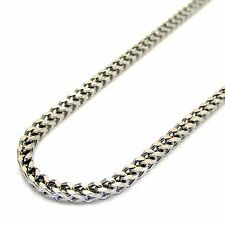 3MM 10k SOLID White Gold Franco Necklace Chain 18-24 Inches