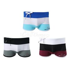Mens Swimwear Underwear Swimming Pouch Trunks Boxer Briefs Soft Shorts Underpant