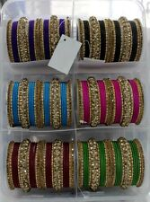 Bollywood Belly Dance Bridal Sangeet Mehandi Dance Bangles Size 2.10  AND 2.6