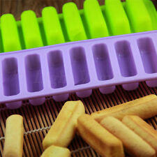 Silicone Cylinder Ice Cube Tray Freeze Mould Pudding Jelly Chocolate Mold 048aw