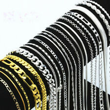 5PCS Lots 925sterling Solid Silver Necklace 16-30'' Women Men Fashion Jewelry