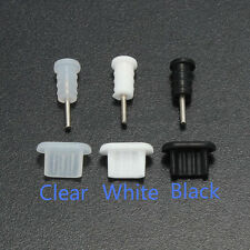 10Pcs 3.5mm Earphone Jack Micro USB Cell Phone Port Cover Cap Dust Protector