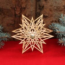 Star Tealight Holder - Decoration Wooden for Christmas
