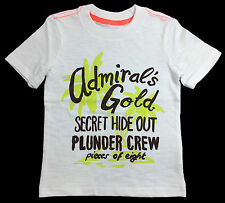 """NWT Carter's """"Admiral's Gold"""" White Tee Cotton T-Shirt Boys Sizes 6M, 2T"""