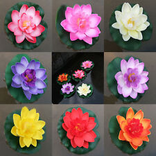 1pc Artificial Lotus Water Lily Floating Flower Pool Pond Tank Plant Yard Decor