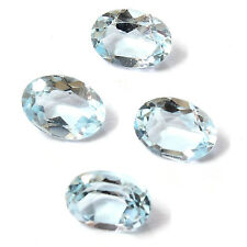 Natural Brazilian Sky Blue Topaz AA Quality 8x6 mm Faceted Oval Loose gemstone