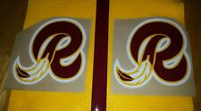 Throwback Washington Redskins Football Helmet Decals Full size