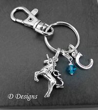 Unicorn Bag Charm, Personalised Unicorn Keyring