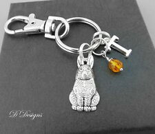 Rabbit Bag Charm, Personalised Rabbit Keyring