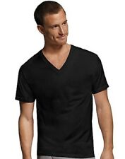 Hanes Men's V-Neck T-Shirts Comfortsoft 4-pack M-2X 100% Cotton