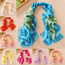Women Chiffon Peony FLoral Long Soft Neck Scarf Shawl Scarves Stole Wraps 133  K