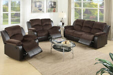 Chocolate Suede Motion Sofa and Loveseat Set Optional Recliner Rocker Chair