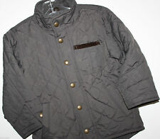baby Gap NWT Boy's Brown Quilted Jacket Coat w/ Corduroy