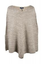 Select Ladies Wool Cape Poncho Chunky knitted Beige Mix Wool Size 38-44
