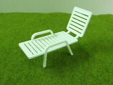 PATIO GARDEN DECK CHAIR 1:12 Scale,DOLLHOUSE Miniature Modern Style Furniture