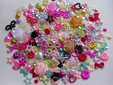 20/50/100pcs Pearl Mixed Colours Heart Star Flower Bow Tear Cabochon Nail Craft