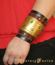 Medieval Roman Armor Leather BracerS -A Pair-