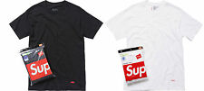 (1 Tee) Supreme Hanes Black or White Tee T-Shirt Large & Extra Large SS17