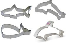 4 Piece Ocean Shark Dolphin Whale Orca Killer Whale Cookie Cutter Set