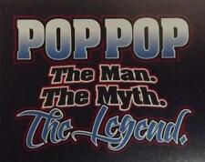 POP POP the man the myth the legend Navy Tee  SM To 5XL NWOTS 3 or more 10% off