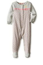 Juicy Couture Baby Girls' Polka Dot Footed Logo Coverall - Gray Pink